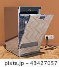 食器洗い機 食器洗浄機 食洗機のイラスト 43427057