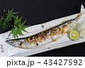 秋の味覚・料理~サンマの塩焼き~ 43427592