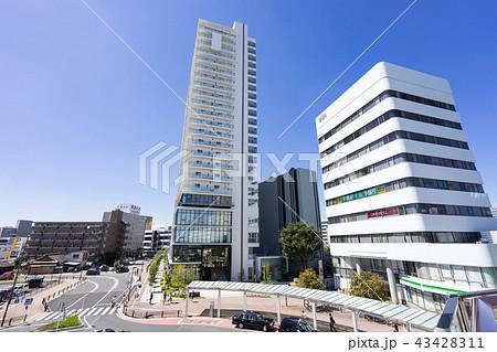 愛知県 刈谷市 刈谷駅前 都市風景 ウィングデッキからの眺め 43428311