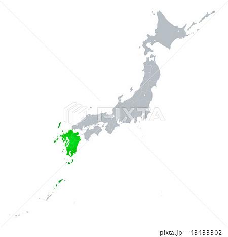 九州と日本列島 43433302