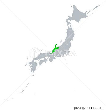 北陸地方と日本列島 43433310