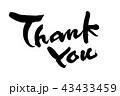 筆文字 メッセージ サンキューのイラスト 43433459