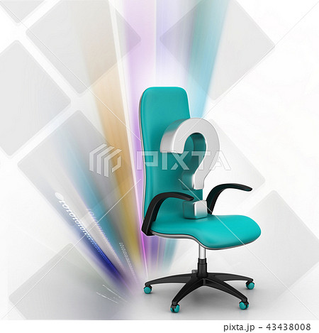 an empty chair with  question mark 43438008