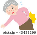 シニア 腰痛 ぎっくり腰のイラスト 43438299