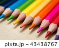 色鉛筆 カラフル いろいろの写真 43438767