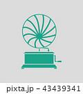 アイコン イコン 蓄音機のイラスト 43439341