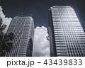 2つ並ぶ高層オフィスビル。金融/経済イメージ 43439833