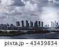 お台場のオフィスビル群と橋と海 43439834