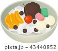 餡蜜 和菓子 スイーツのイラスト 43440852