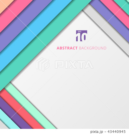 Template abstract geometric pastel color shadow 43440945