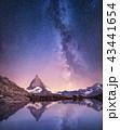 山 マッターホルン 反映の写真 43441654