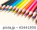 色鉛筆 カラフル 多色の写真 43441930