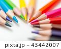 色鉛筆 カラフル いろいろの写真 43442007