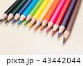 色鉛筆 カラフル いろいろの写真 43442044
