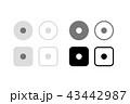 録画、停止ボタン、サイコロ、目玉、ストップボタン。グラフィック素材、UI、アプリデザインパーツ 43442987