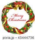 クリスマスリース クリスマス リースのイラスト 43444736