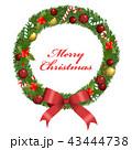 クリスマスリース クリスマス リースのイラスト 43444738