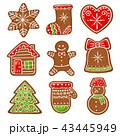 クリスマス ジンジャーブレッド 食のイラスト 43445949