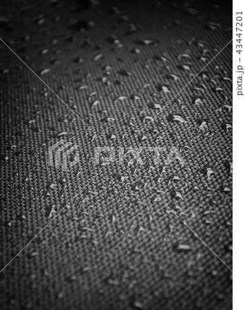 Water drops on fabric texture 43447201