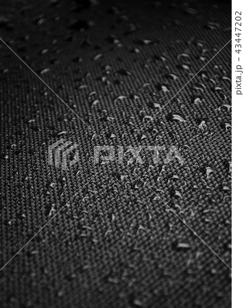 Water drops on fabric texture 43447202