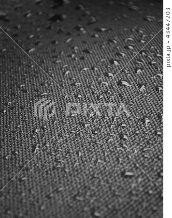 Water drops on fabric texture 43447203