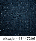 Water drops on fabric texture 43447206