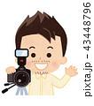 カメラマン 男性 43448796