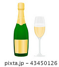 シャンパン シャンペン スパークリングワインのイラスト 43450126
