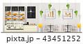 ベーカリー お店 ショップのイラスト 43451252