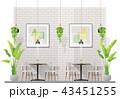レストラン 飲食店 インテリアのイラスト 43451255