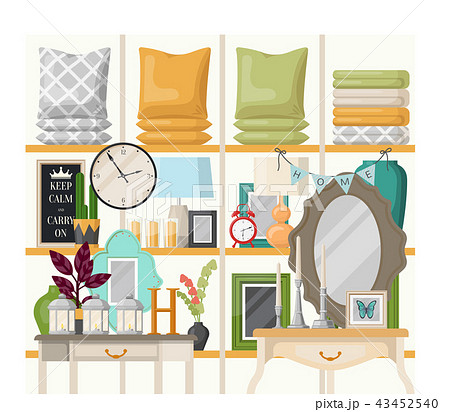 Bedroom or living room interior view 43452540