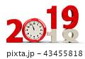 2019 2018 時計のイラスト 43455818
