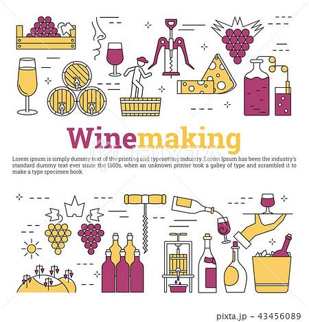 Square web banner - wine making 43456089