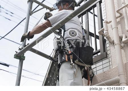 働く人・住宅・足場仮設作業 外壁工事 解体素材汎用 43458867