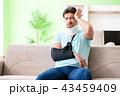 男 男性 怪我の写真 43459409
