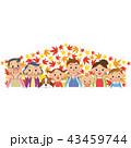 紅葉 秋 笑顔のイラスト 43459744
