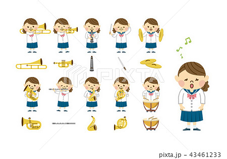 吹奏楽 女性 セット 43461233