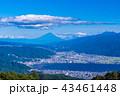 富士山 夏 諏訪湖の写真 43461448