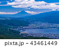 富士山 諏訪湖 町並みの写真 43461449