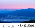 富士山 諏訪湖 眺めの写真 43461509
