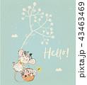 鼠 ねずみ マウスのイラスト 43463469