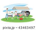 キャンプ アウトドア 家族のイラスト 43463497