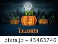 ハロウィン かぼちゃ カボチャのイラスト 43463746