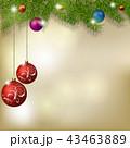 クリスマス オーナメント 飾りのイラスト 43463889