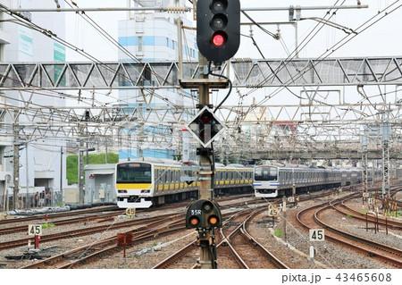 千葉駅 総武線快速電車と総武線各駅停車 43465608