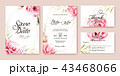 結婚 招待状 招待カードのイラスト 43468066