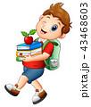 少年 男の子 マンガのイラスト 43468603