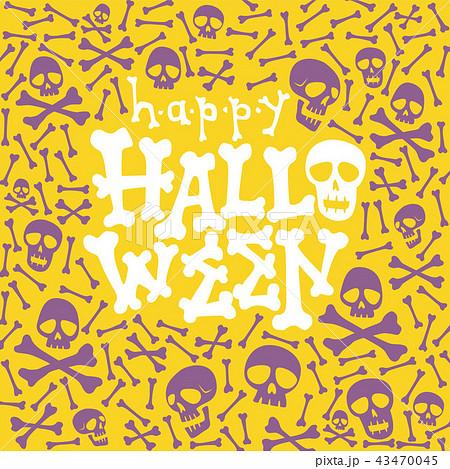 happy halloween greeting card fun lettering 43470045