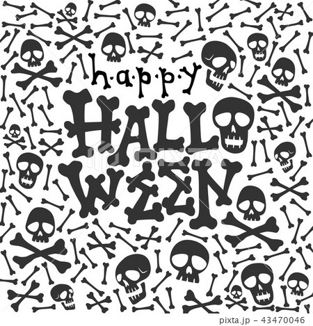 happy halloween greeting card fun lettering 43470046