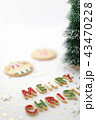 クリスマスツリー そり リースの写真 43470228